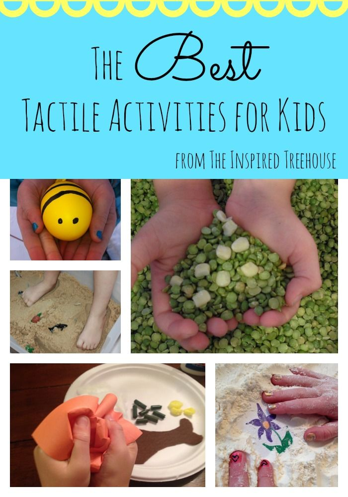 For most children, simply engaging in everyday play activities that allow for exploration, touch, and movement allows for healthy development of the tactile sense.  Here are some of our favorite activities, developed by our team of pediatric therapists, to promote development of the tactile system through sensory play.  #sensoryprocessing #tactile #sensoryactivities