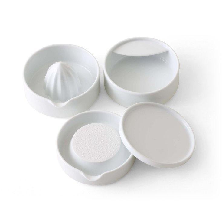 KIHARA/SITAKU 4点セット(お玉たて、おろし器(小)、レモン絞り、蓋)