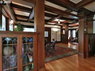 Amazing woodwork in this Portland, Oregon craftsman home.