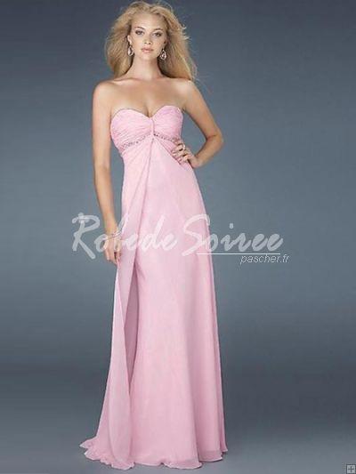 Robe longue rose fushia pas cher