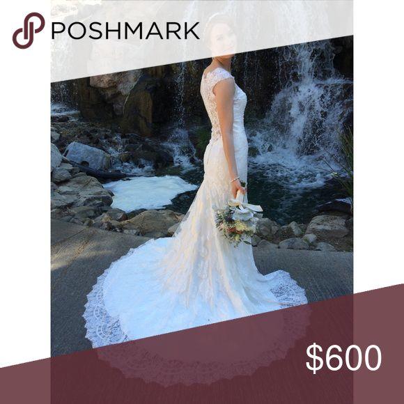 Allure Bridal 9068 Wedding Dress Allure Wedding Dress Style # 9068 Label Size: 4… – My Posh Picks