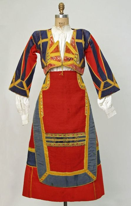 Italy , Sardinia, woman folk costume, early 20th c