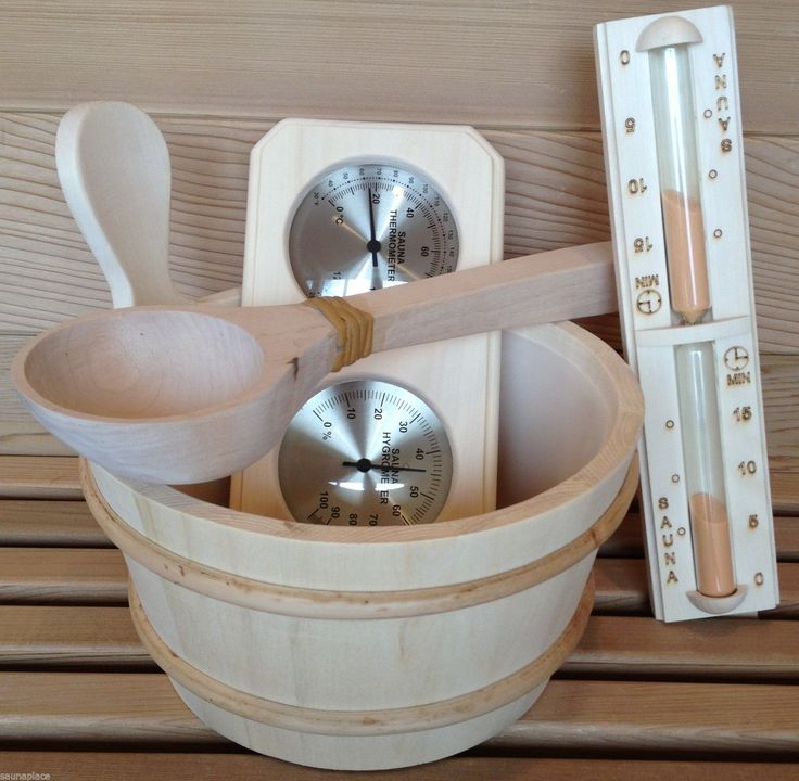 Saunas 181054: Deluxe Sauna Accessory Set, Aspen Bucket, Dipper, Thermo Hygro And Sandtimer -> BUY IT NOW ONLY: $99 on eBay!