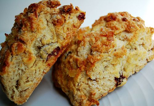 Cranberry, White Chocolate & Toasted Walnut Scones