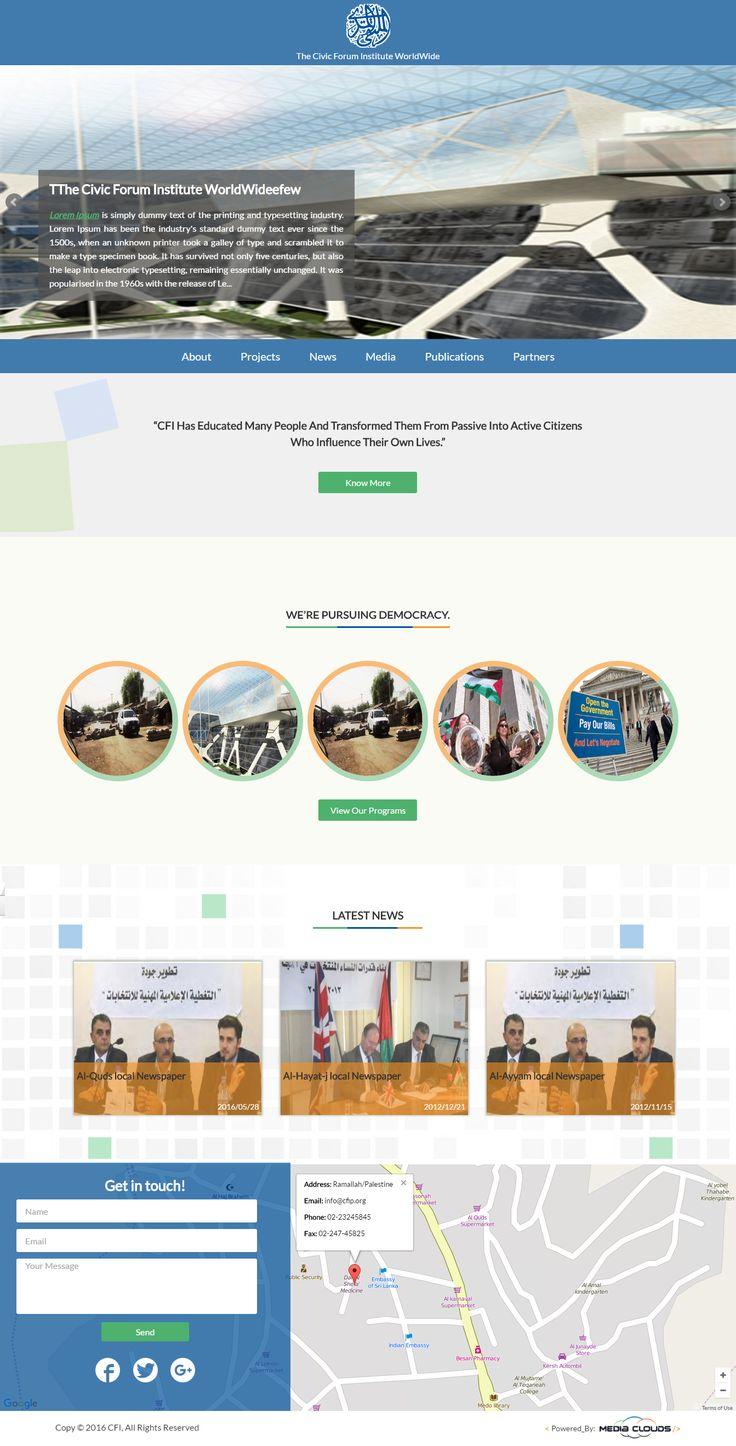 our web designing and development for The Civic Forum Institute. #websites #web_design #web_development #technology #digital #design