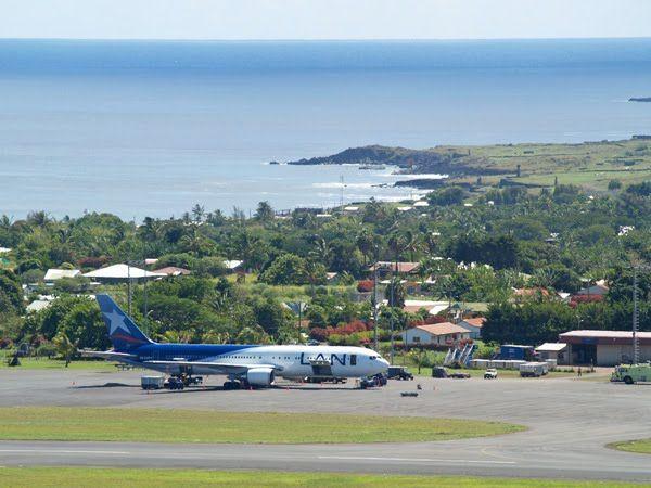 Airport, Hanga Roa, Easter Island.