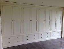 Painted 8 Door Wardrobe with fluting detail