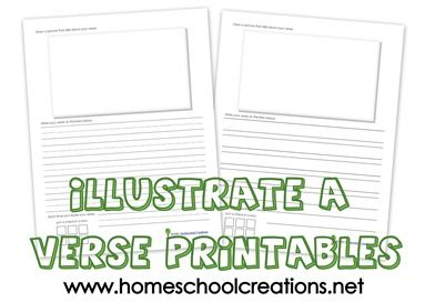 Free printables to help children illustrate a Bible verse when memorizing Scripture from www.homeschoolcreations.net: Bible Printables, Verse Printables, Kids Crafts, Bible Verses, Children Illustrate, Bibleverses, Scripture Memory For Kids, Free Printables, Children S