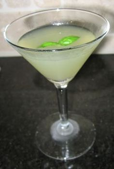 Basil Lime Martini...Best Summer Martini.  This is the recipe girls.