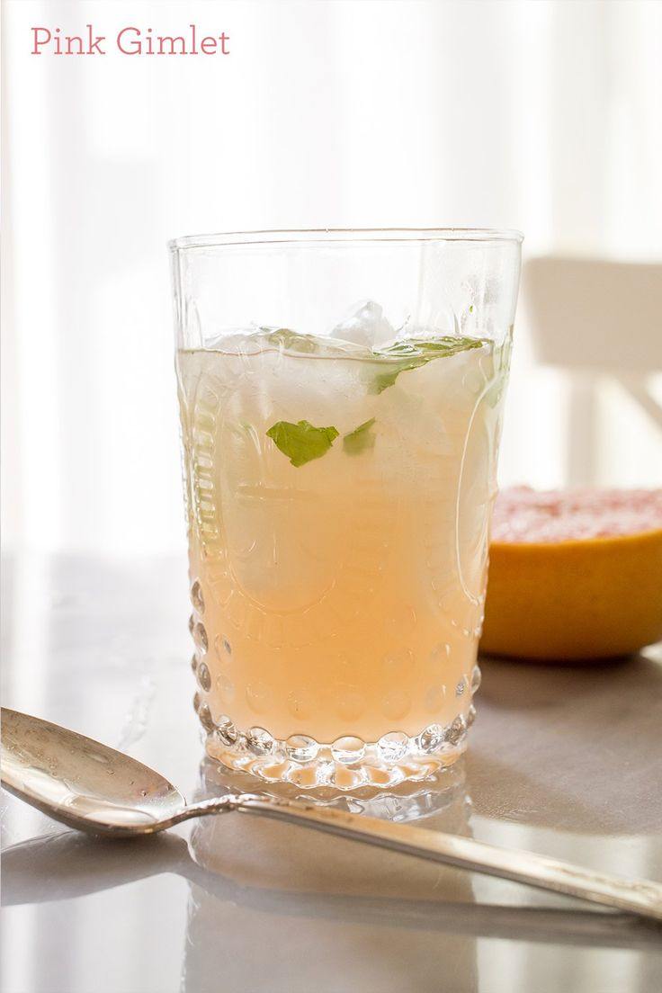 Pink gimlet- this cocktail and mocktail is so good!