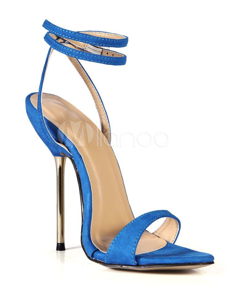 Sandalias de satén elástico de moda - Milanoo.com