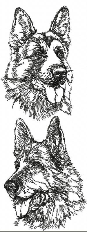 Advanced Embroidery Designs - German Shepherd Set