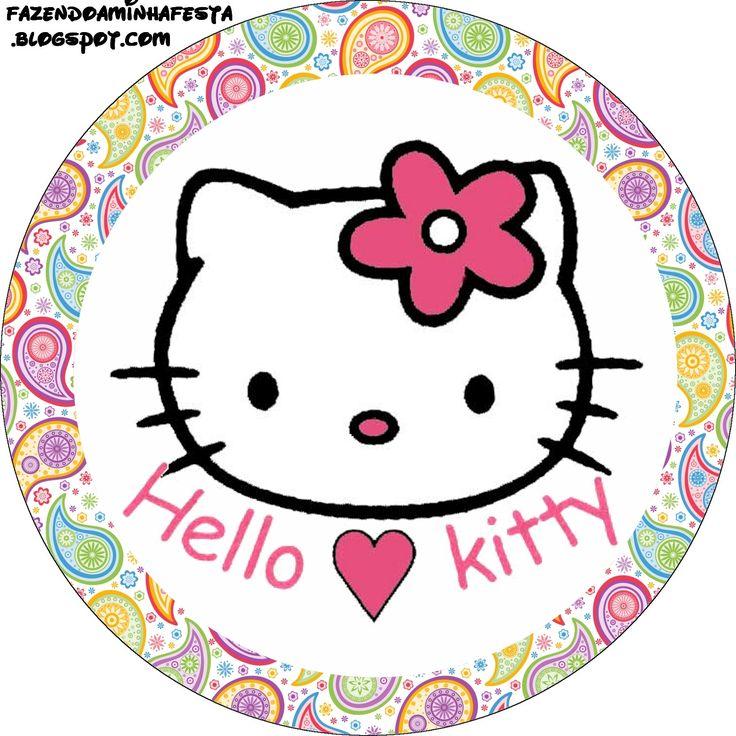 Hello Kitty - Kit Completo com molduras para convites, rótulos para guloseimas, lembrancinhas e imagens! - Fazendo a Nossa Festa