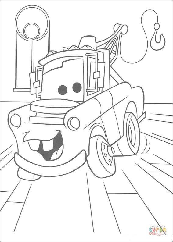 Mater Truck Coloring Page Free Printable Coloring Pages Disney
