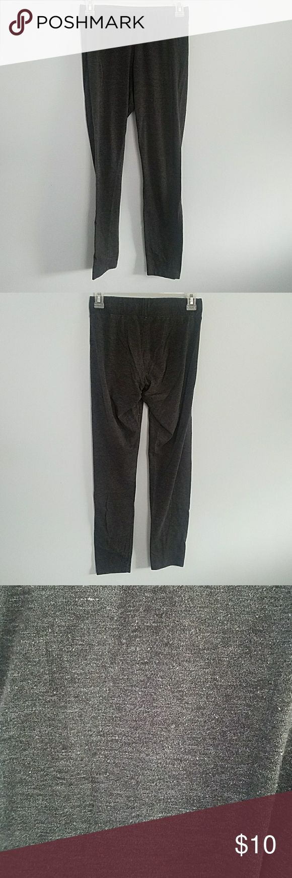 Dark Grey Leggings A bit see through. Should only be worn under a dress, cardigan, skirt, or long shirt. Comfortable and stretchy material. Very loved, but still in good condition. Vanity Pants Leggings