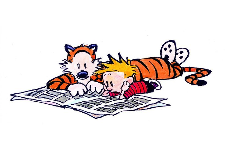 """Calvin and Hobbes': America's Most Profound Comic Strip Calvin and Hobbes were fans of print journalism—or at least the comics."
