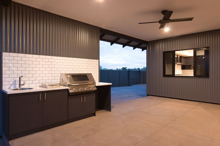 The Walcott Outside BBQ  CONNOLLY HOMES BROOME BUILDER