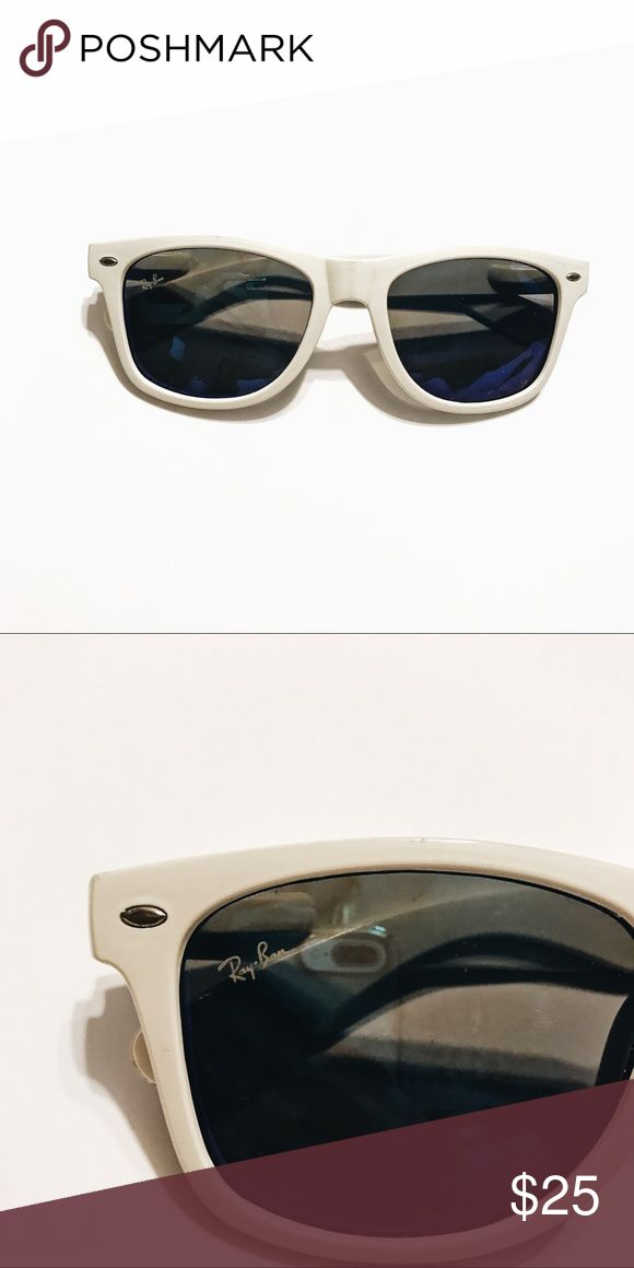 """Ray-Ban"" Sunglasses Price reflects authenticity. Glasses have been worn a couple of times, have logo and also reflect a purple, blue color lens. Accessories Glasses"
