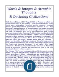 Words & Images & Atrophic Thoughts & Declining Civilizations