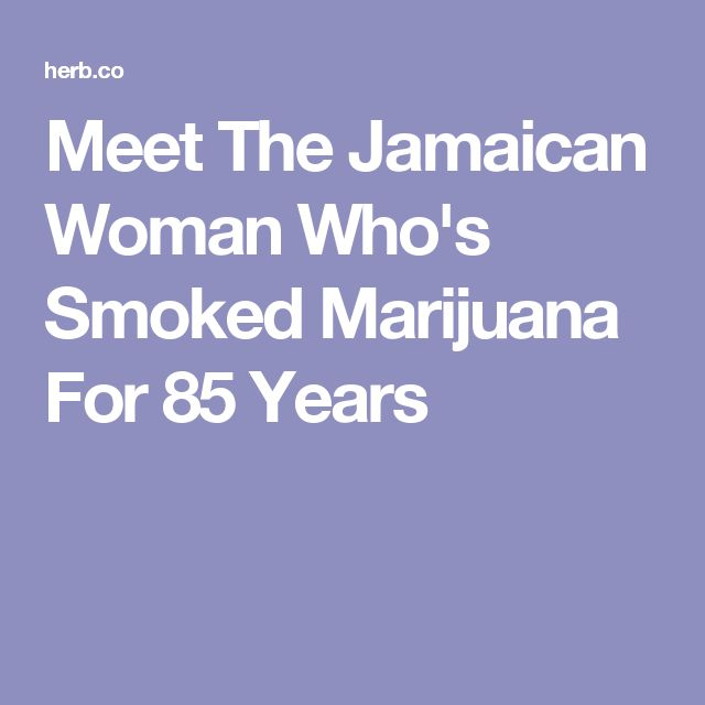 Meet The Jamaican Woman Who's Smoked Marijuana For 85 Years