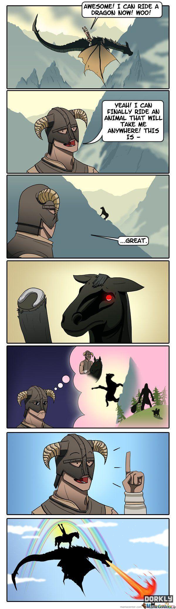 skyrim memes | Skyrim: The Dragonborn Rides Again - Meme Center