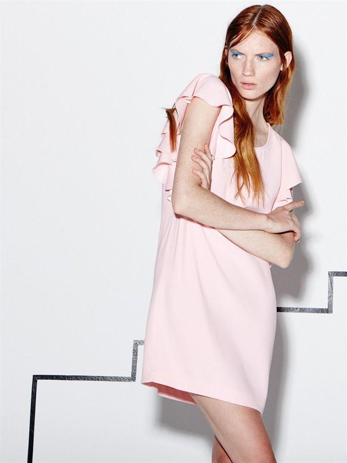 Naughty Dog SS16 pink viscose mini dress!