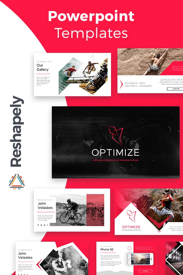 The 175 best powerpoint templates images on pinterest optimize modern powerpoint template toneelgroepblik Images