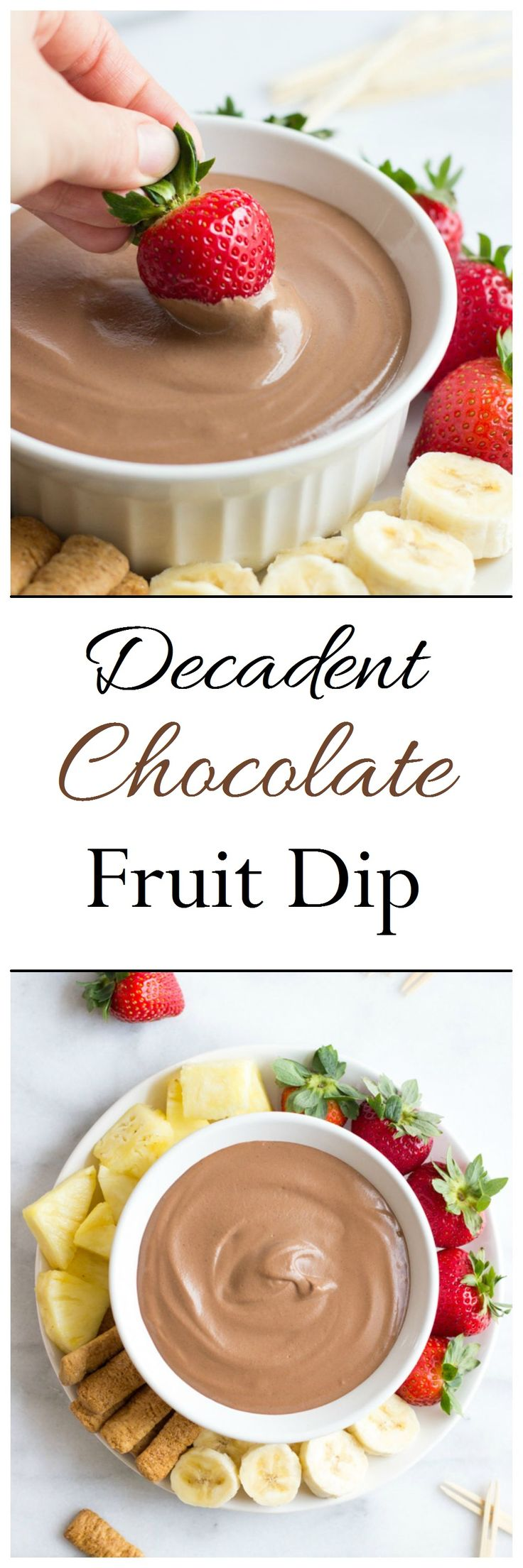 This recipe makes the lightest and silkiest chocolate fruit dip you can find! You won't believe it's made without dairy or refined sugar! (vegan + gluten-free)