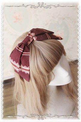 Infanta ~Swan Lake~ Dark Printed Lolita Headbow