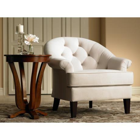 Hamilton Stone Fabric Upholstered Arm Chair