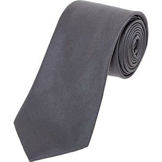 Grey Silk Twill Tie