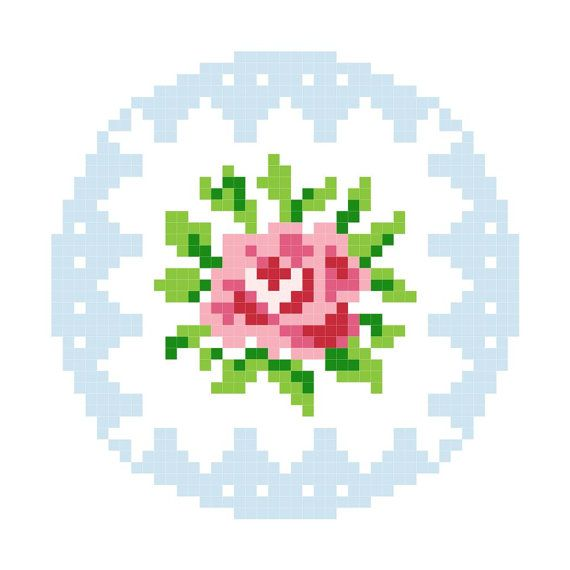 Rose Cross Stitch PDF Pattern Cath Kidston Style by kirsty4363, $2.30