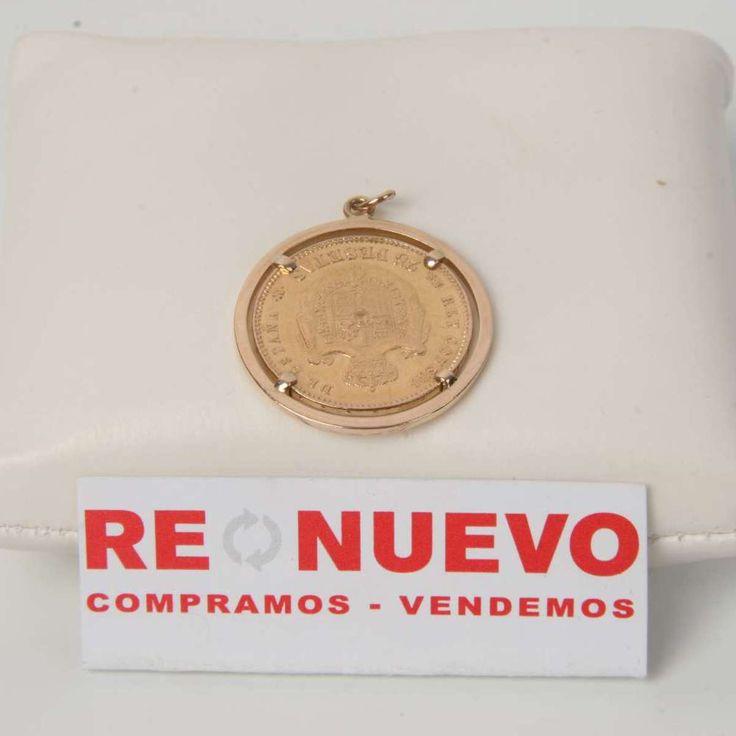 Colgante moneda Alfonso XII de oro de segunda mano E274713A | Tienda online de segunda mano en Barcelona Re-Nuevo