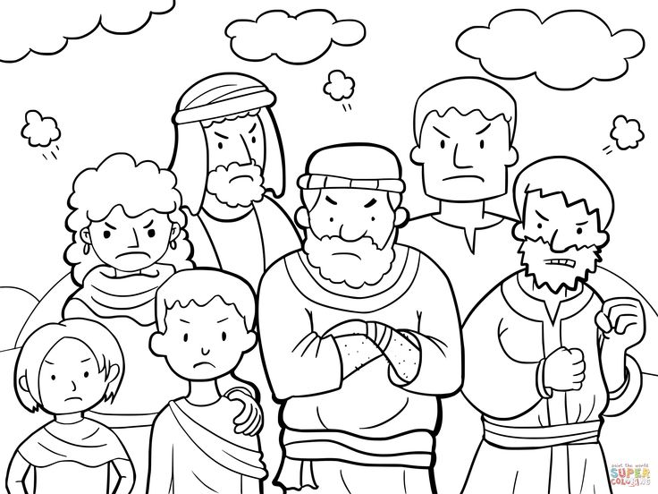 bible coloring pages about aaron - photo#11