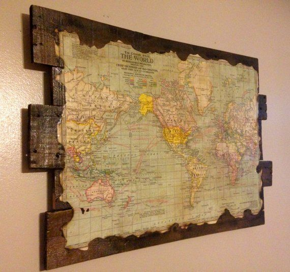 Scratch Map World 22x34 Original Travel Log