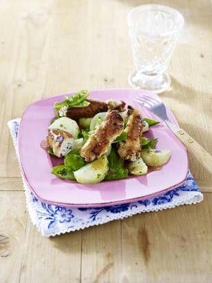 Schnitzelröllchen mit Frischkäse-Bärlauch-Füllung RezeptMit Frischkäsebärlauchfüllung