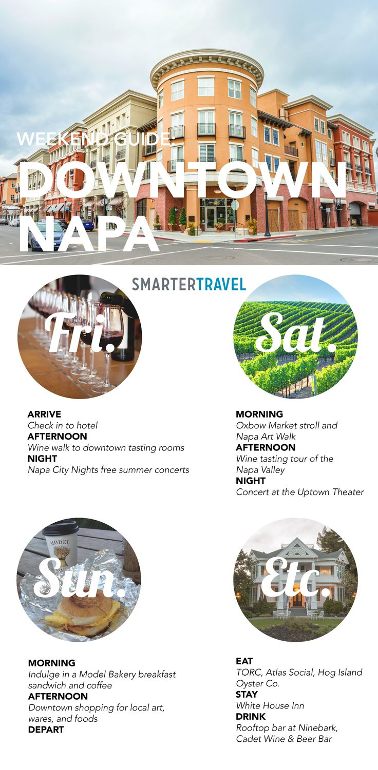 How to spend a weekend in downtown Napa Valley #napa #napavalley #california…