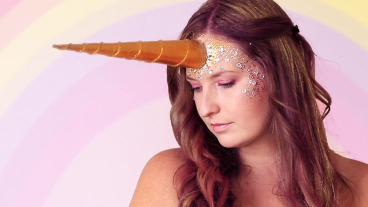Halloween makep tutorial unicorn, corner, unicorn look, halloween costume, diy easy, idea