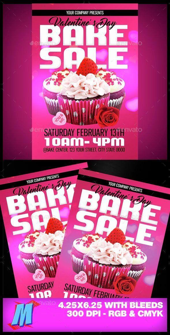 Bake Sale Flyer Ideas Unique Valentines Bake Sale Flyer Template Bake Sale Bake Sale Flyer Sale Flyer
