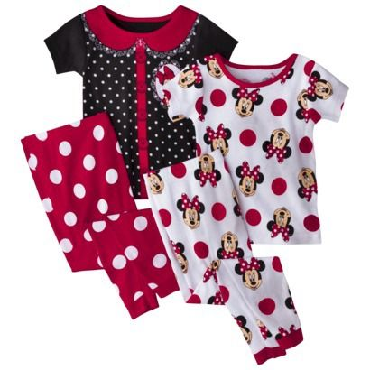 Lorraine, look what I found at Target!  Minnie Mouse 4 piece pajama set.  One for each of the girls!
