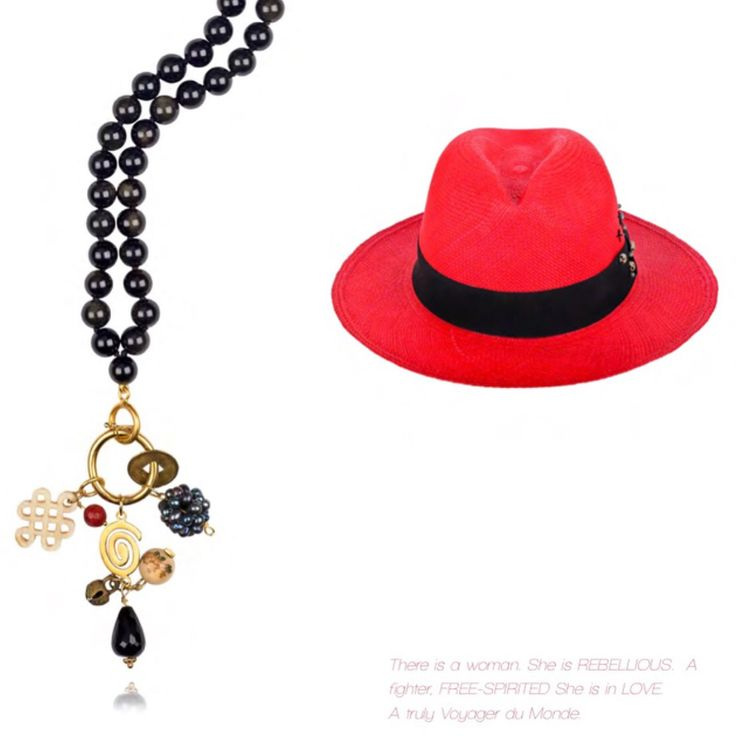 Killari goes to...ZANZIBAR  http://bit.ly/zanzibarkillari  Red and orange starfishes decorating the SAND, exotic landscapes to frolic unobserved and the latent promise of warm-weather ADVENTURES and romantic odysseys, set the scene and inspiration for this bohemian-chic set of Straw Panama Hat and beaded necklace.