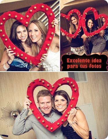 Excelente idea para tus fotos del dia del amor y la amistad 14 de febrero decoracion y fiesta
