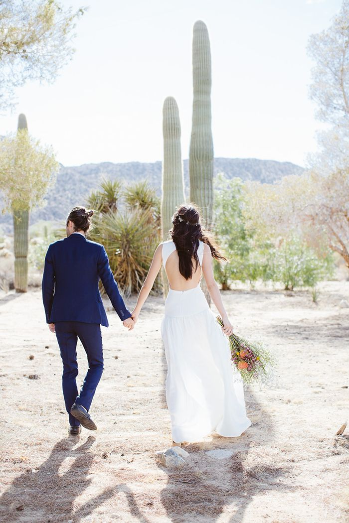 Bohemian Real Wedding In Joshua Tree Jessica In HOUGHTONS Gwen Gown Visit The NYC Houghton