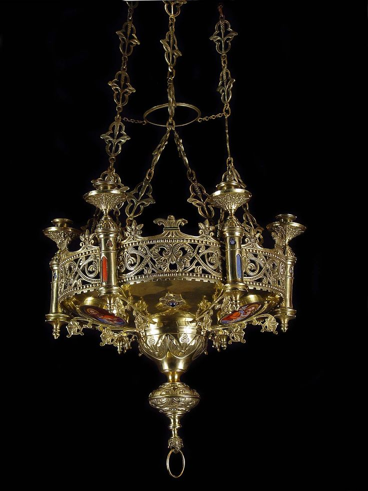 Antique Brass Gothic Revival Chandelier - 171 Best Lights....... Images On Pinterest Antique Lamps