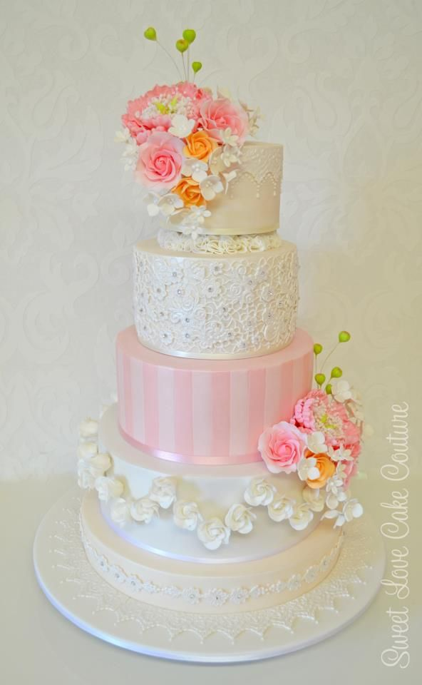 1601 Best Images About CakesFloral Wedding Elegant On Pinterest