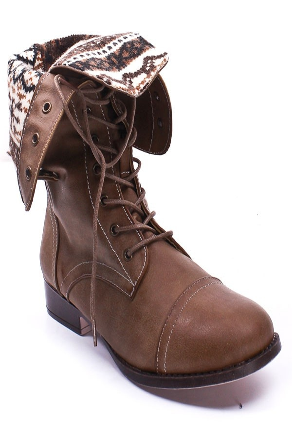 fold over lace up combat boots | Gommap Blog