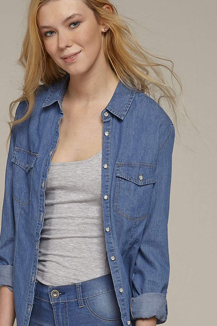 My #closet: #demin fever with this #jeanseffect #shirt by @terranovastyle #casualstyle