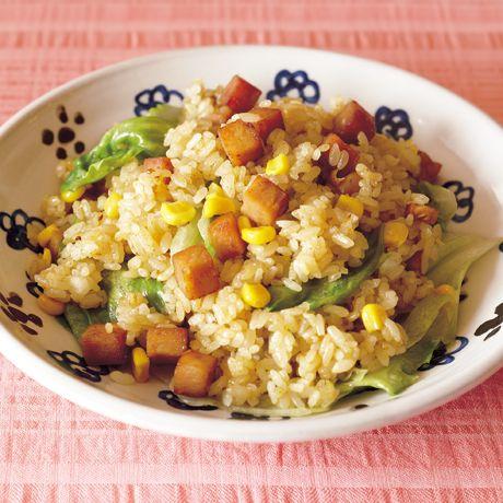 ランチョンミートのカレーレタスチャーハン | 市瀬悦子さんのチャーハンの料理レシピ | プロの簡単料理レシピはレタスクラブネット