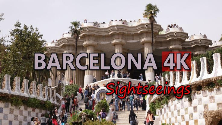 Ultra HD 4K Barcelona Spain Travel Landmarks Famous Sightseeings Day Night UHD Video Stock Footage