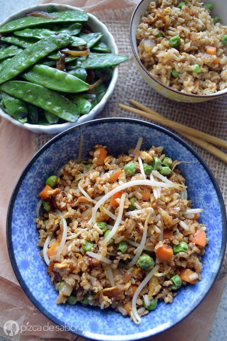 C mo hacer arroz frito arroz integral recipe recetas - Como hacer pimientos verdes fritos ...